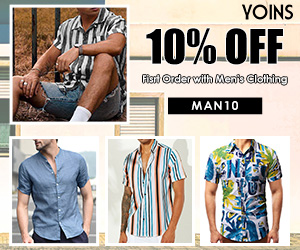 10% OFF ,First Order with Men's Clothing