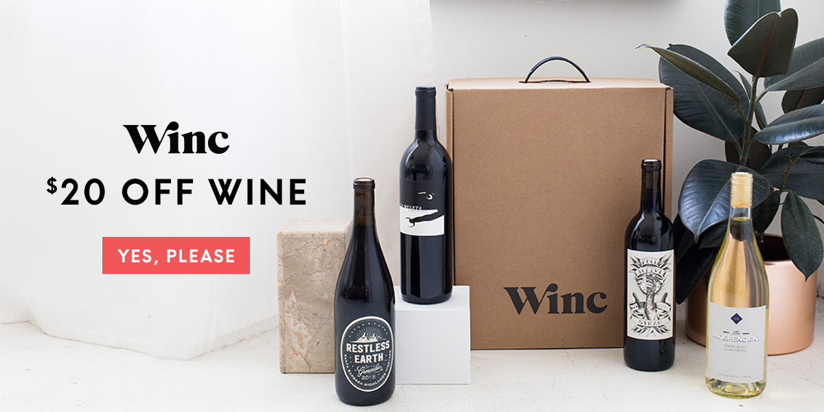 Winc $20 Off Your First Order