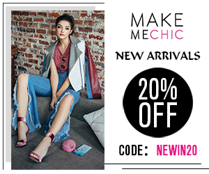 New Arrivals Sale! Save 20% on New Arrivals with couponcode NEWIN20 at MakeMeChic.com. Sale ends October 2nd