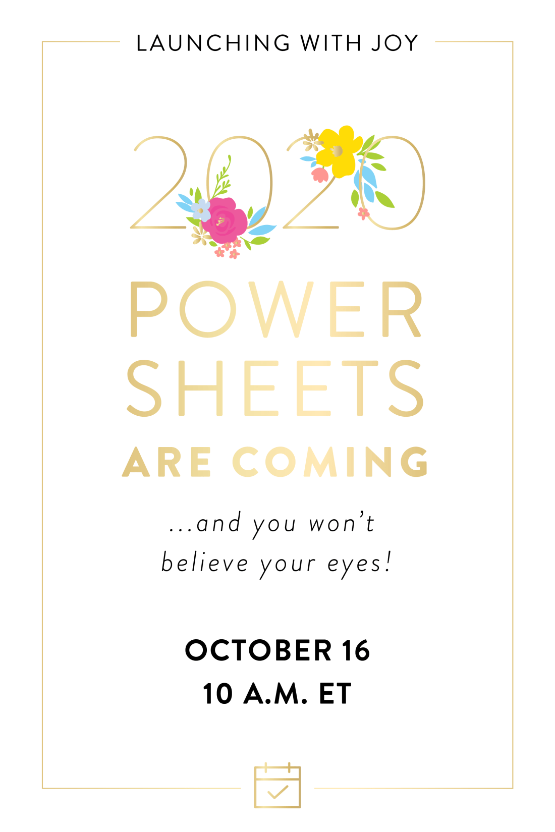 Cultivate What Matters 2020 PowerSheets