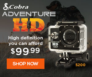 Adventure HD by Cobra 5200 action-sports camera is built specifically for those looking for an adventure, 365 days a year.