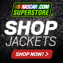 Keep warm on cold nights at the track in Official NASCAR Jackets at Store.NASCAR.com