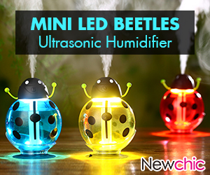 Mini LED Beetles Ultrasonic Humidifier - 48% Off