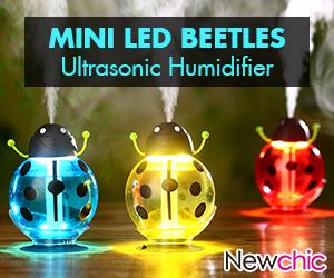 Mini LED Beetles Ultrasonic Humidifier - 48% Off