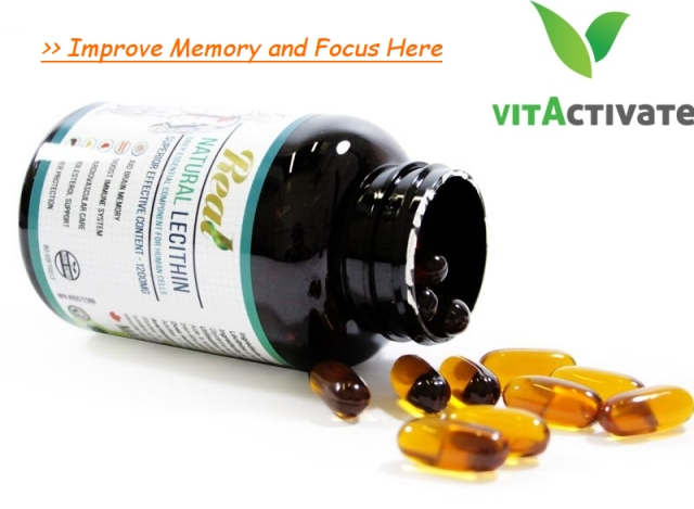 Natural Lecithin Brain Memory Support Herbal Supplement - Vita Activate