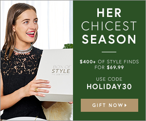 $400 Worth of Style for Only $69.99. Use Code HOLIDAY30