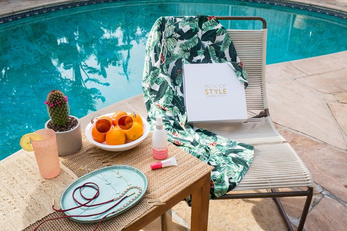 Spring box by pool