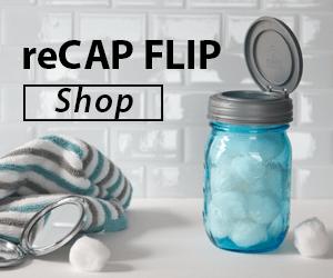 reCAP FLIP Mason Jar Lid