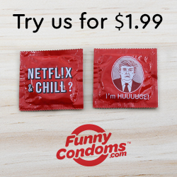Funny Condoms Try Us SQ