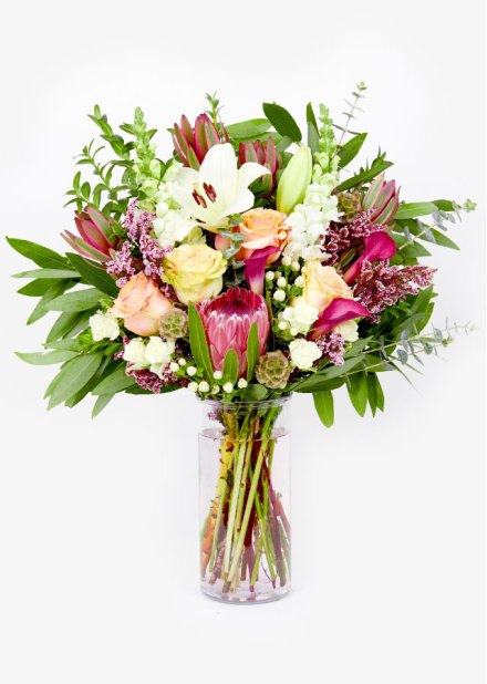 Mother's Day flowers with vase