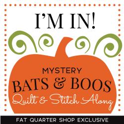 Bats & Boos Mystery Quilt & Stitch Along