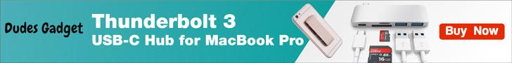 Thunderbolt 3 USB-C Hub for MacBook Pro