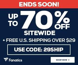 Huge Black Friday Savings at Fanatics.com