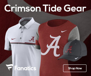 Alabama Crimson Tide gear at Fanatics.com