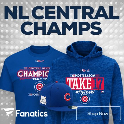 Chicago Cubs NL Central Champs Gear