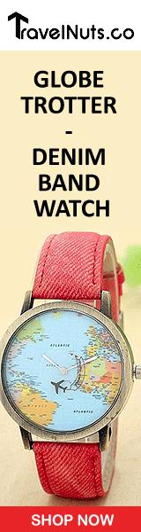 Globe Trotter - Denim Band Watch - Travel Nuts