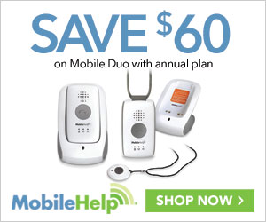 $60 Off Mobile Duo with Annual Plan at MobileHelp.com, no coupon code needed!