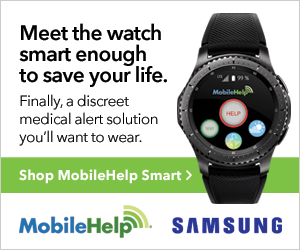Meet the watch smart  enough to save your life - shop MobileHelp Smart.