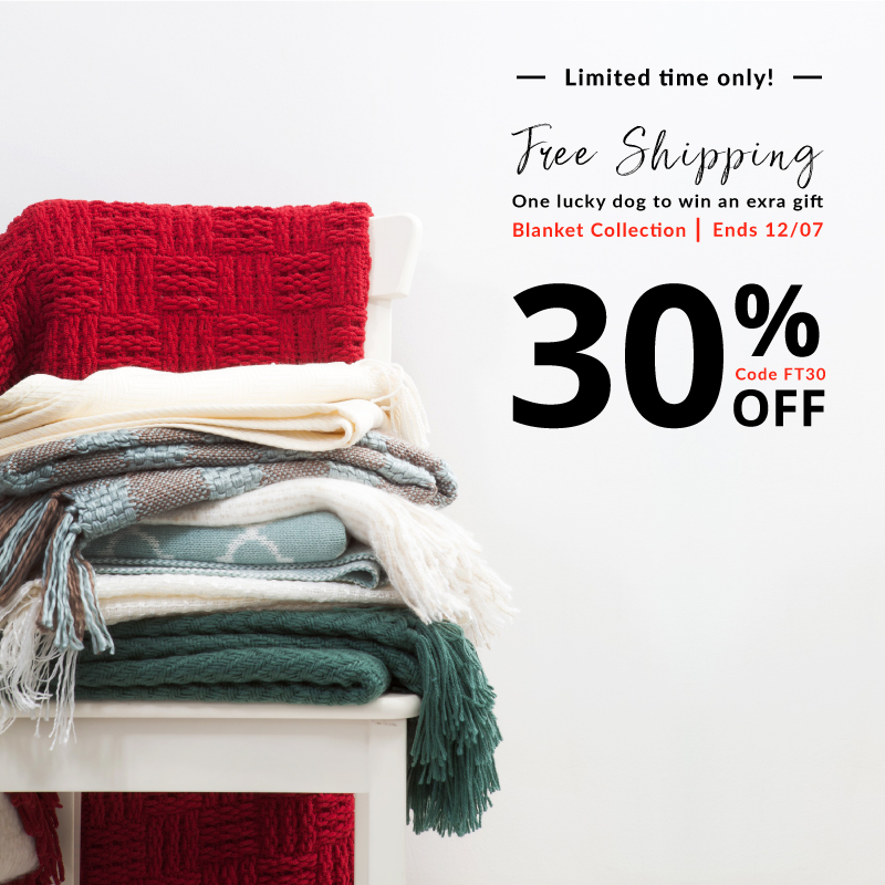 30% off for all blankets with code FT30
