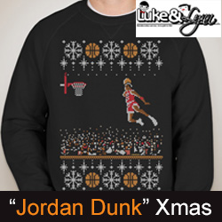 "Michael Jordan Jumpman ""1988 Dunk Contest Ugly Sweater"" Sweatshirt by Luke&Lynn Clothing - tacky christmas sweaters, ugliest christmas sweaters, ugly christmas jumpers, ugly christmas sweater, ugly christmas sweater cheap, ugly christmas swe"