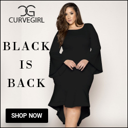 Black Party Wear, black women wear, plus size clothing
