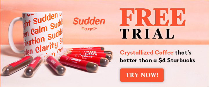 Free Trial - Sudden Coffee 720x300