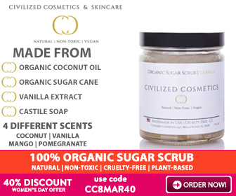 Organic Sugar Face Scrub - 40% DISCOUNT