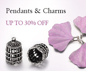 Up to 30% OFF on Pendants & Charms, ends on July 25th, 2018 PST