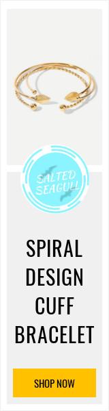 SPIRAL DESIGN CUFF BRACELET
