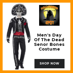 Men's Day Of The Dead Sensor Bones Costume