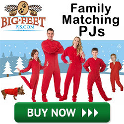 Matching Holiday Family PJ's from BigFeetPJs.com