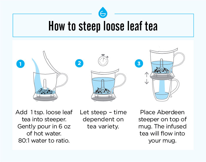 infigraphic how to make tea in a loose leaf smart tea maker grosche aberdeen