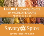 Join Savory Loyalty Club and Get Double Loyalty Points