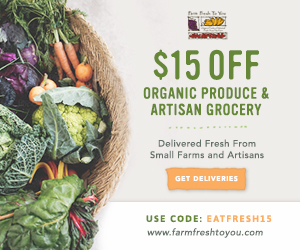 $15 Off Your First Box of Organic Produce & Artisan Groceries