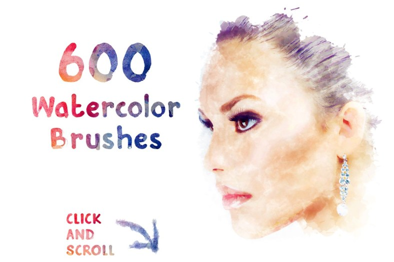 A Bundle Of 600 Beautiful Watercolor Brush Strokes For FREE