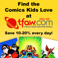 Save 10-20% on kids comics and graphic novels at TFAW.com!