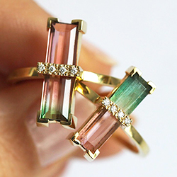 tourmaline engagement ring
