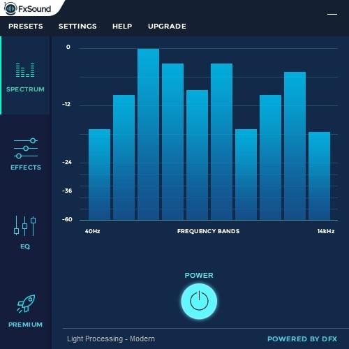 FXSound spectrum frequency graphic sound audio booster