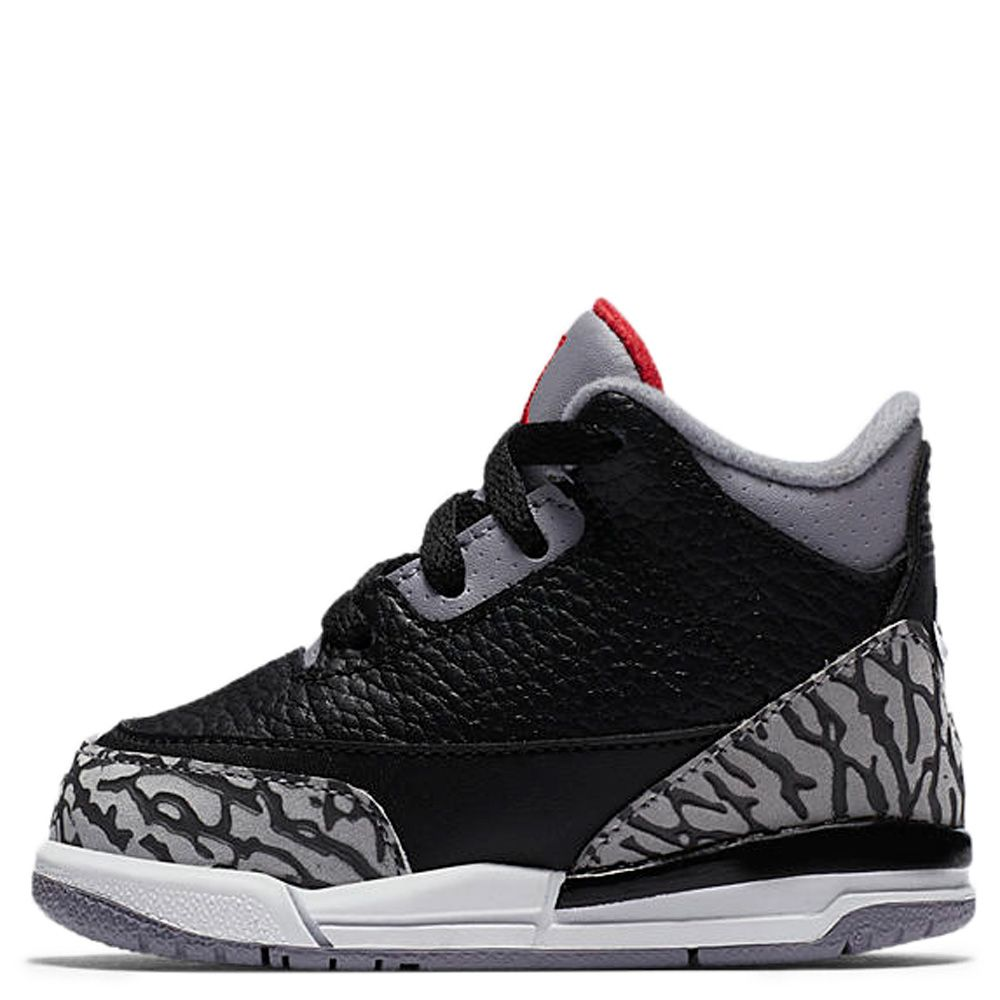 Air Jordan 3 Retro OG BLACK FIRE RED CEMENT GREY WHITE