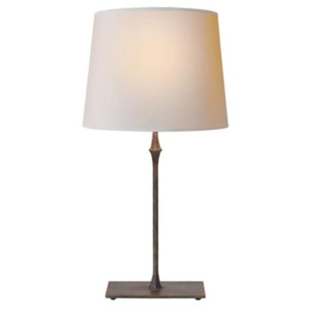 Visual Comfort Dauphine Bedside Lamp in Aged iron with Natural Paper     Dauphine Bedside Lamp in Aged iron with Natural Paper Shade