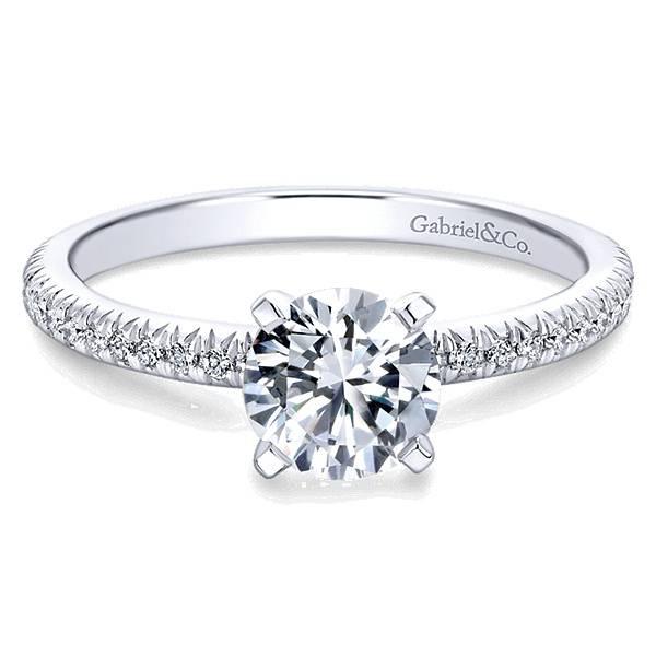 4 Prong Diamond Band Engagement Ring Gabriel Amp Co ER4181