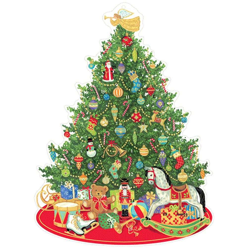 Advent Calendar Die Cut Oh Christmas Tree Paper Pop Up
