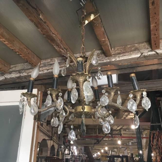 Brooklyn Antique Brass And Crystal Chandelier Ora