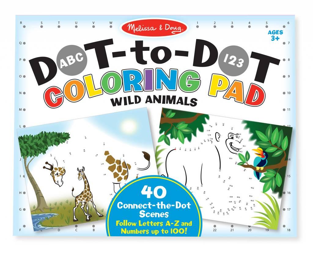 Dot To Dot Coloring Pad Wild Animals Top Seller