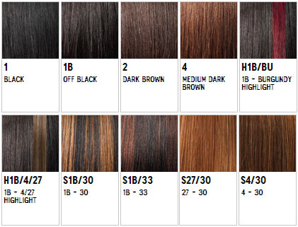 Outre Hair Weave Color Chart Hairstly