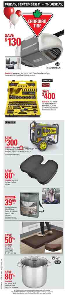 Canadian Tire Canada Flyer 98th Birthday Week Long Sale On September 11 September 17 2020 Shopping Canada