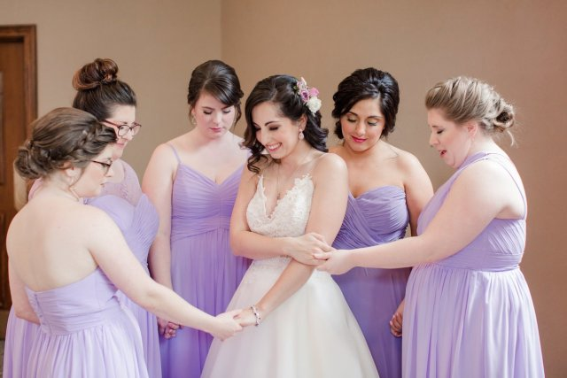 bangs and blush | on location hair and makeup for brides