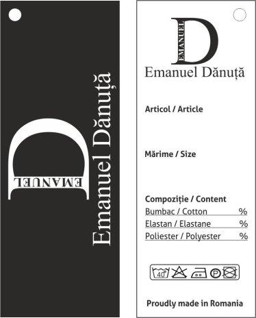 Eticheta carton Emanuel Danuta