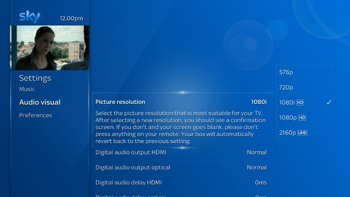 Changing The Screen Resolution Setting Sky Help Sky Com