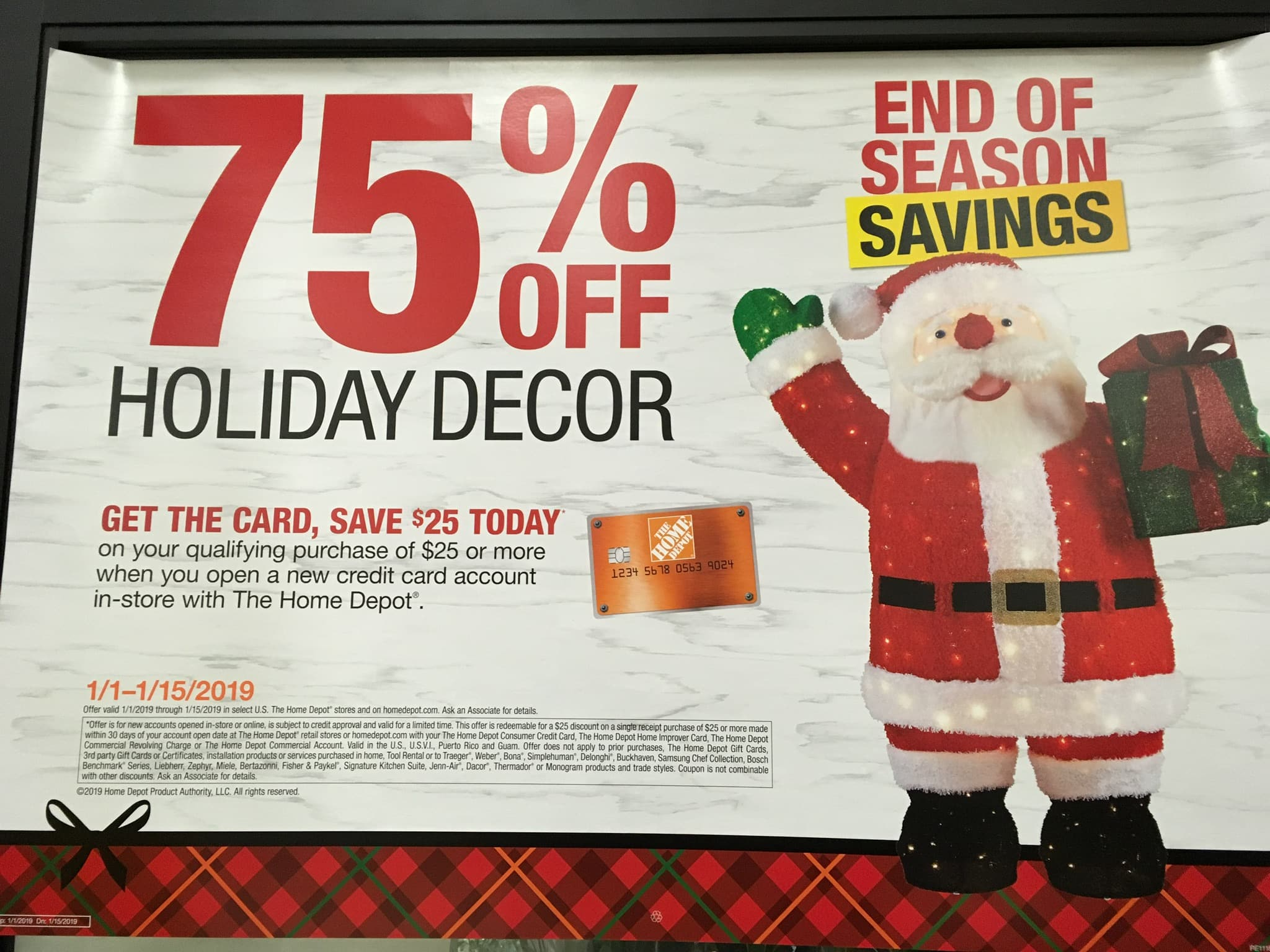Home Depot 75% Off Holiday (Christmas) Decorations